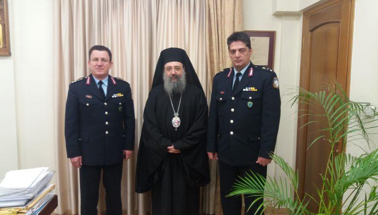 Ο νέος Αστυνομικός Διευθυντής Δυτικής Ελλάδος στον Μητροπολίτη Πατρών