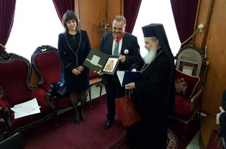 Ο Δήμαρχος Ρόδου στον Πατριάρχη Ιεροσολύμων (ΦΩΤΟ-ΒΙΝΤΕΟ)