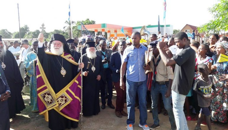 Ο Πατριάρχης Αλεξανδρείας στο Ελληνικό Σχολείο του Λουμουμπάσι (ΦΩΤΟ)