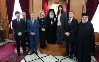 Στον Πατριάρχη Ιεροσολύμων η Υπουργός Τουρισμού της Ελλάδας (ΦΩΤΟ – ΒΙΝΤΕΟ)