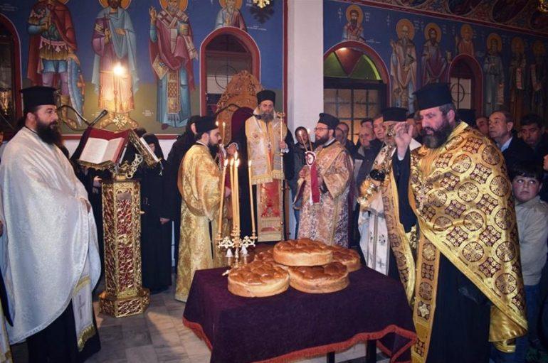Εσπερινός του Οσιομάρτυρος Δαμιανού του εκ Μυριχόβου στην Ι. Μ. Θεσσαλιώτιδος (ΦΩΤΟ)