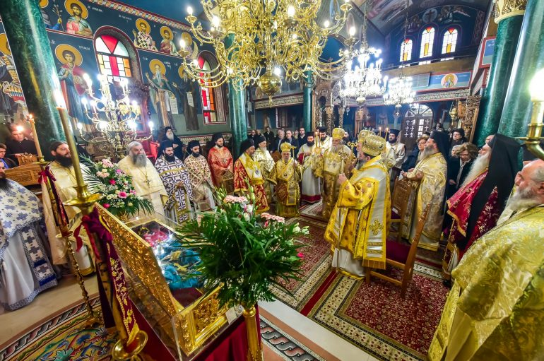 Αρχιερατικό Συλλείτουργο επί τη εορτή της Αγίας Κυράννης της Οσσαίας (ΦΩΤΟ)