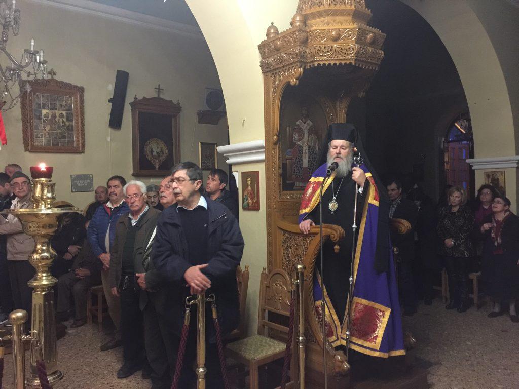 Ο Εσπερινός της Συγνώμης στην Ι. Μητρόπολη Κυδωνίας (ΦΩΤΟ)