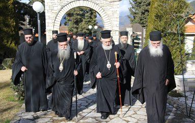 Οι Μητροπολίτες Σπάρτης και Φωκίδος στα Μοναστήρια του Τρικόρφου (ΦΩΤΟ)