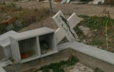 Άγνωστοι βεβήλωσαν τάφους στο κοιμητήριο της Ορμύλιας (ΦΩΤΟ)