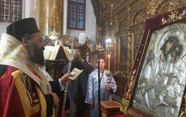Υποδοχή της Εικόνος της Παναγίας «Επισκέψεως» στην Ι. Μ. Τρίκκης (ΦΩΤΟ)