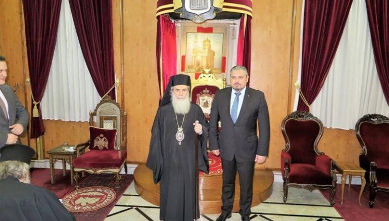 Ο Υπουργός Εξωτερικών της Μολδαβίας στον Πατριάρχη Ιεροσολύμων (ΦΩΤΟ)