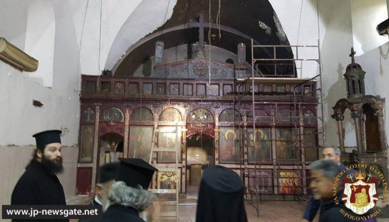 Πυρκαγιά σε Ιερό Ναό του Πατριαρχείου Ιεροσολύμων (ΦΩΤΟ)