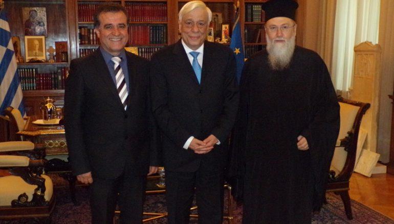 Επίσκεψη του Μητροπολίτη Κορίνθου στον Πρόεδρο της Δημοκρατίας (ΦΩΤΟ)