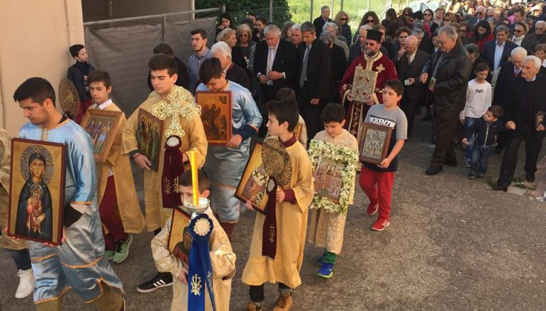 Η εορτή της αναστήλωσης των Ιερών Εικόνων στον Αγ. Σπυρίδωνα Πύργου (ΦΩΤΟ)