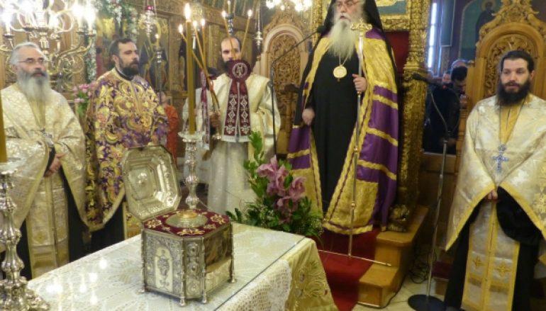 Η Τίμια Κάρα της Αγίας Βαρβάρας στην Ι. Μ. Καστορίας (ΦΩΤΟ)