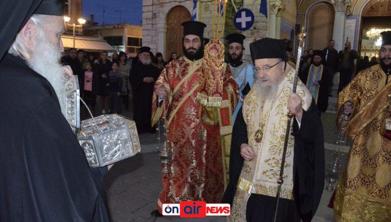 Το Μεσολόγγι υποδέχθηκε Λείψανα του Αγίου Λουκά του Ιατρού (ΦΩΤΟ)