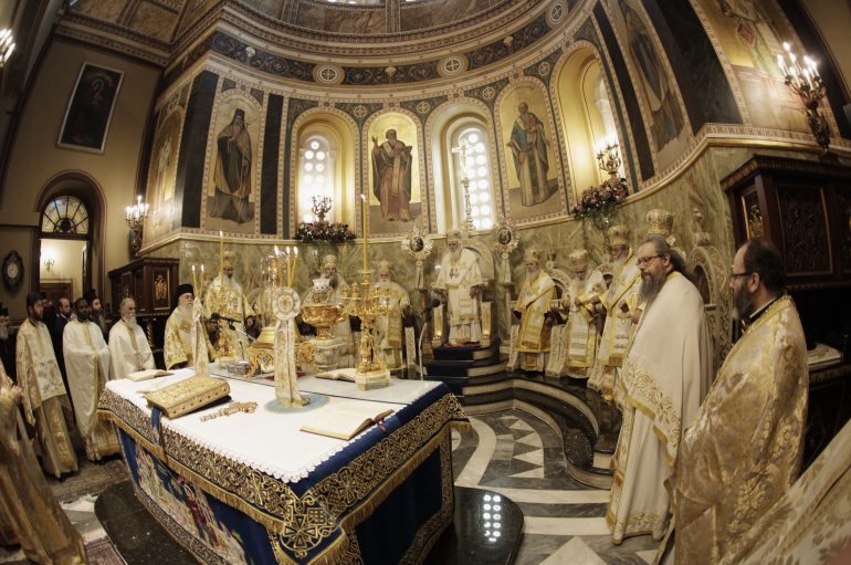 Συνοδική Θ. Λειτουργία στην Αθήνα για την αναστήλωση των Ιερών Εικόνων (ΦΩΤΟ)