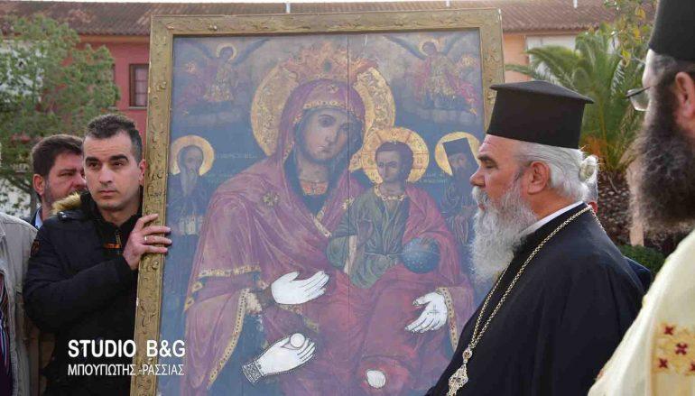 Στη Νέα Κίο Αργολίδας επέστρεψε η Εικόνα της Παναγίας Τριχερούσας (ΦΩΤΟ-ΒΙΝΤΕΟ)