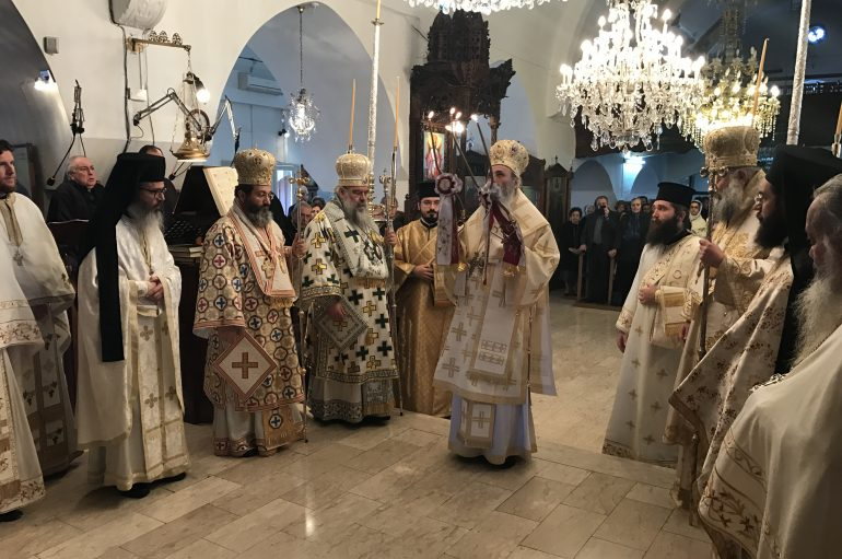 Αρχιερατικό Συλλείτουργο στην Παναγία Χρυσελεούσα Κύπρου (ΦΩΤΟ)