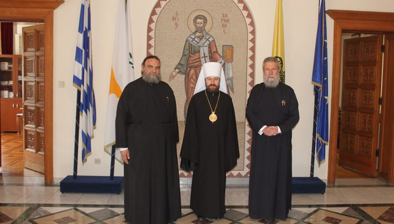 Συνάντηση του Μητροπολίτη Βολοκολάμσκ με τον Αρχιεπίσκοπο και τον Πρόεδρο της Κύπρου (ΦΩΤΟ)