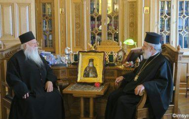 Ο Μητροπολίτης Σύρου στην Ι. Μονή Ξενοφώντος του Αγίου Όρους (ΦΩΤΟ)