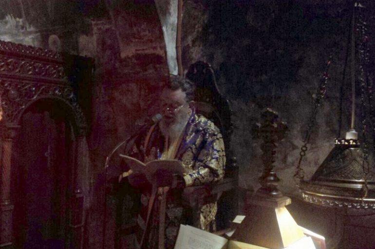 Προηγιασμένη Θ. Λειτουργία από τον Μητροπολίτη Χαλκίδος στην Ι. Μ. Άνω Βάθειας (ΦΩΤΟ)