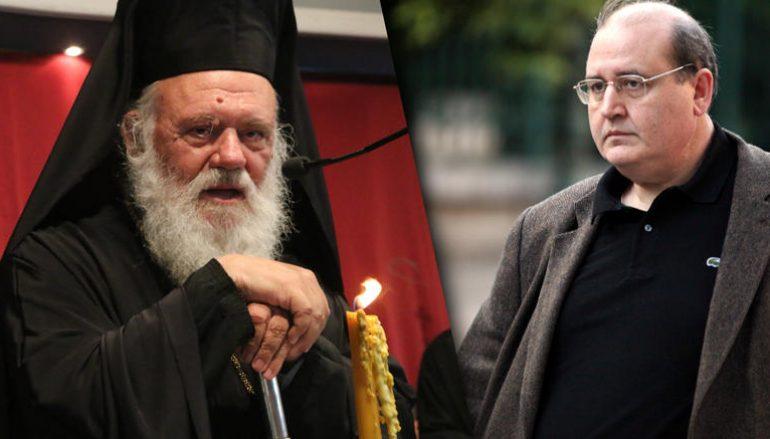 Φίλης για Αρχιεπίσκοπο Ιερώνυμο: «Πρακτικά δικής του συγγραφής και εμπνεύσεως»