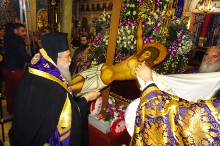 Ο Εσπερινός της Αποκαθηλώσεως στον Ι. Ναό Οσίου Νίκωνος Σπάρτης (ΦΩΤΟ)