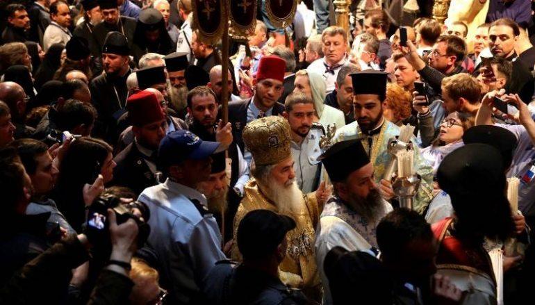 Η Τελετή του Αγίου Φωτός στο Πατριαρχείο Ιεροσολύμων (ΦΩΤΟ)
