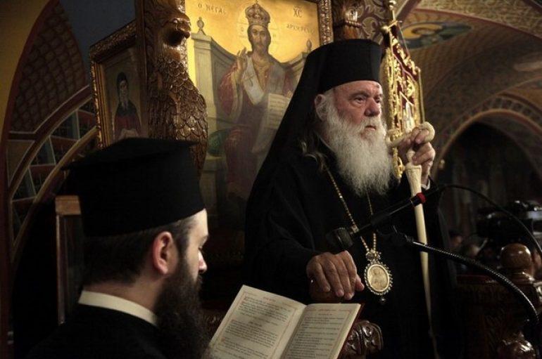 Ο Αρχιεπίσκοπος Ιερώνυμος στον Ι. Ναό Αγ. Αικατερίνης Πετραλώνων (ΦΩΤΟ)