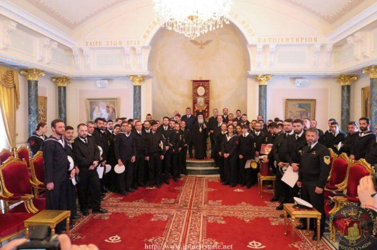 Στο Πατριάρχη Ιεροσολύμων πληρώματα του Πολεμικού Ναυτικού (ΦΩΤΟ)
