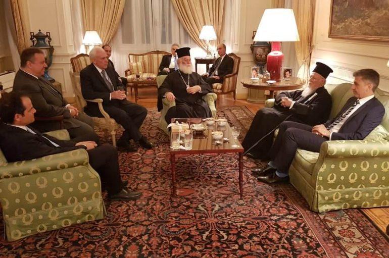 Δείπνο στο Οικ. Πατριάρχη από τον Έλληνα Πρέσβη στο Κάιρο (ΦΩΤΟ)