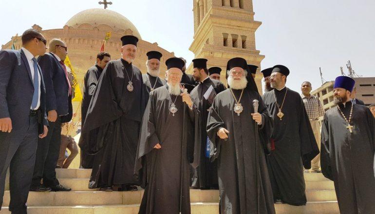 Ο Οικ. Πατριάρχης στον Άγιο Γεώργιο παλαιού Καΐρου (ΦΩΤΟ-ΒΙΝΤΕΟ)