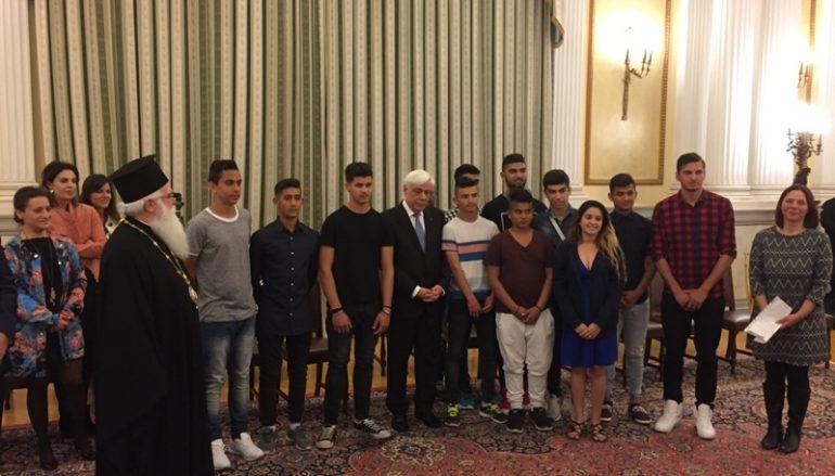 Ο Μητροπολίτης Δημητριάδος και νέοι ΡΟΜΑ στον Πρόεδρο της Δημοκρατίας (ΦΩΤΟ)
