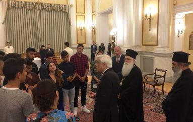Επίσκεψη Μητροπολίτη Δημητριάδος και νέων ΡΟΜΑ στον Πρόεδρο της Δημοκρατίας (ΒΙΝΤΕΟ)