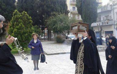 Ο Βόλος υποδέχθηκε τεμάχιο της Τιμίας Ζώνης της Θεοτόκου (ΦΩΤΟ)