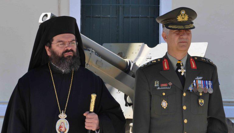 Ο Μητροπολίτης Μαρωνείας στην Παράδοση-Παραλαβή Διοικήσεως της 21ης Ταξιαρχίας (ΦΩΤΟ)
