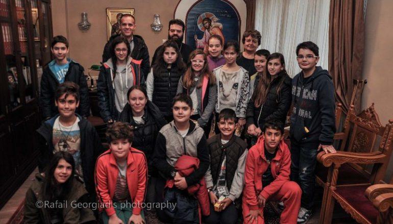 Η Ομάδα Ρομποτικής Δημοτικού Σχολείου Κομοτηνής στον Μητροπολίτη Μαρωνείας (ΦΩΤΟ)