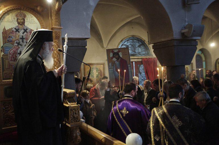 Στο Μοσχάτο ο Αρχιεπίσκοπος για την Ακολουθία του Νυμφίου (ΦΩΤΟ)