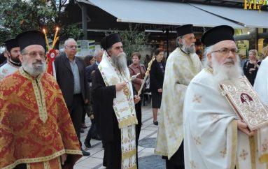 Εσπερινός των Αγίων Θεοχάρους και Αποστόλου στην Άρτα (ΦΩΤΟ)