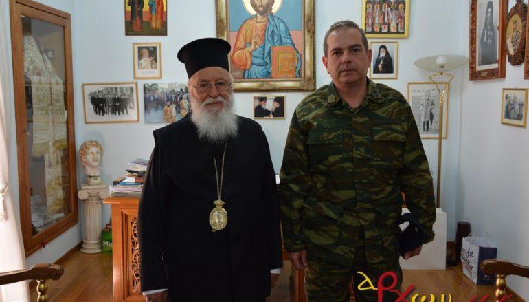 Στον Μητροπολίτη Μαντινείας ο νέος Διοικητής του 11ου Σ.Π. Τρίπολης (ΦΩΤΟ)