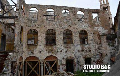 Ξεκίνησαν οι εργασίες στερέωσης του Ενετικού κτιρίου του Αγ. Γεωργίου Ναυπλίου (ΦΩΤΟ)