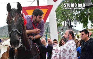Λιτανεία της εικόνας του Αγ. Γεωργίου με άλογα στα Λευκάκια Ναυπλίου (ΦΩΤΟ-ΒΙΝΤΕΟ)