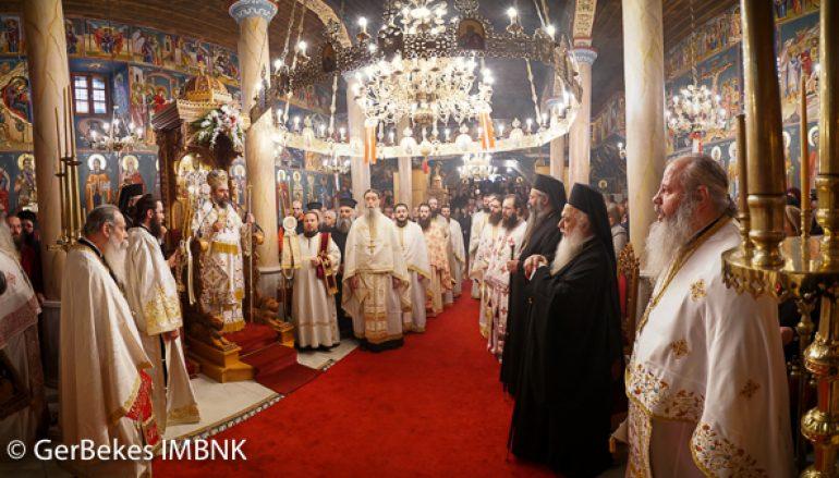 Εσπερινός και κουρά Μοναχού στην Ι. Μονή Παναγίας Δοβρά  (ΦΩΤΟ)