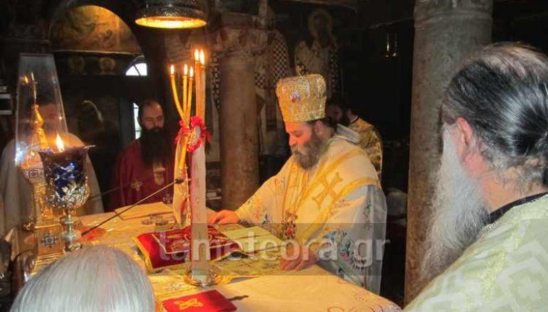 Ο Μητροπολίτης Ιωαννίνων στον Ι. Ναό Κοιμήσεως Θεοτόκου Καλαμπάκας (ΦΩΤΟ)