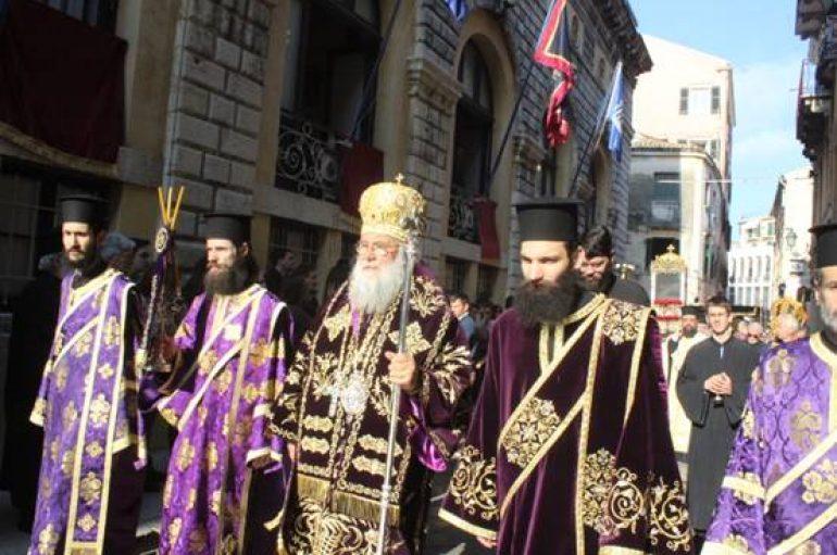 Η Περιφορά του Σκηνώματος του Αγ. Σπυρίδωνος και η Πρώτη Ανάσταση στην Κέρκυρα (ΦΩΤΟ)