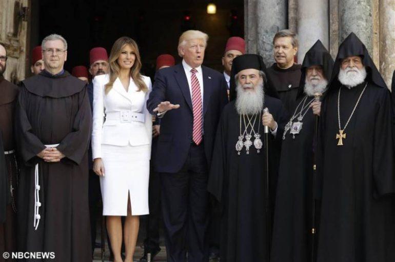 Ο Πρόεδρος των Η.Π.Α. στον Ιερό Ναό της Αναστάσεως (ΦΩΤΟ)