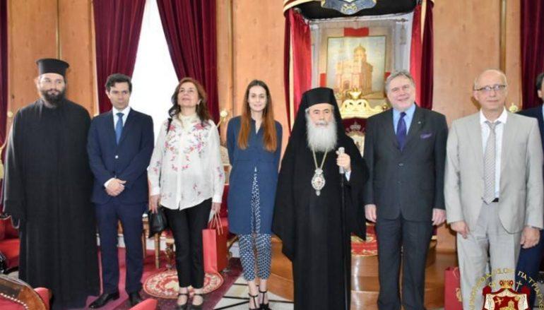 Στον Πατριάρχη Ιεροσολύμων ο Αναπλ. Υπουργός Εξωτερικών (ΦΩΤΟ – ΒΙΝΤΕΟ)