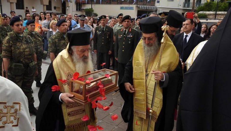 Η Μυτιλήνη υποδέχθηκε την Τίμια Χείρα του Αγίου Νεκταρίου  (ΦΩΤΟ-ΒΙΝΤΕΟ)
