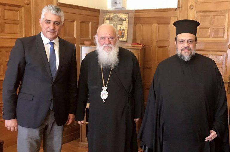 Στον Αρχιεπίσκοπο ο Μητροπολίτης Μεσσηνίας και ο Δήμαρχος Πύλου