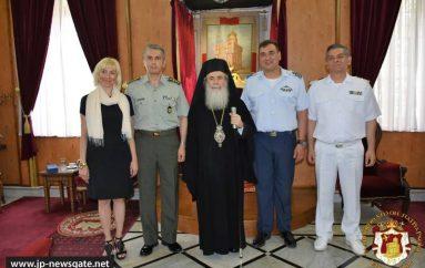 Εκπρόσωποι του Πολεμικού Ναυτικού στον Πατριάρχη Ιεροσολύμων (ΦΩΤΟ)
