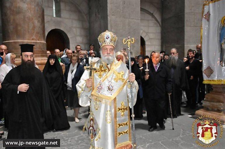 Η εορτή του εν ουρανώ φανέντος σημείου του Σταυρού στα Ιεροσόλυμα (ΦΩΤΟ-ΒΙΝΤΕΟ)