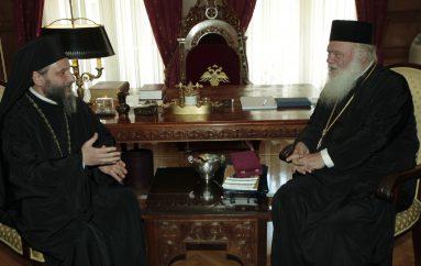 """Αρχιεπίσκοπος: """"Ο επισκέπτης μας έχει ζήσει έντονα τη μαρτυρία του Χριστού"""" (ΦΩΤΟ)"""