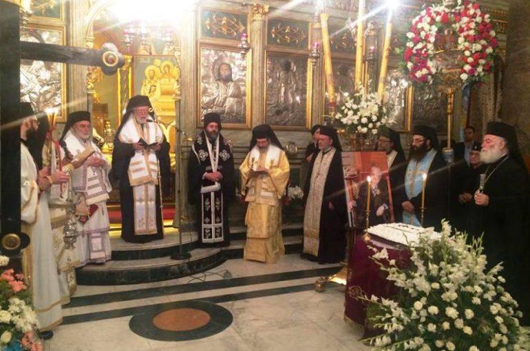 Συγκινητικές στιγμές στο Μνημόσυνο της μητρός του Πατριάρχη Αλεξανδρείας (ΦΩΤΟ)